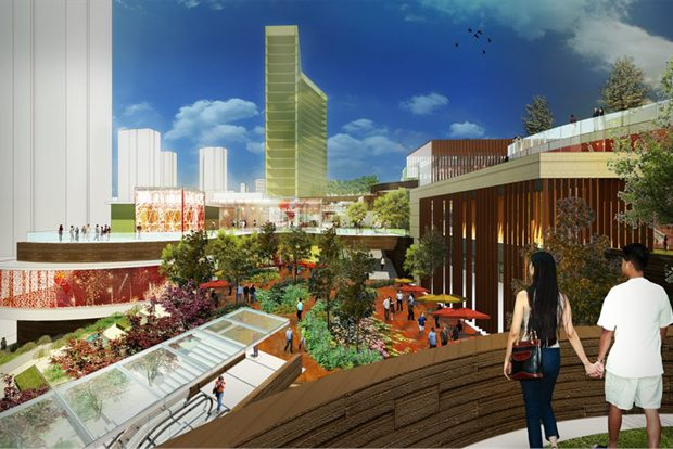 California architecture firm 5+design will create Wuhan's first lifestyle center. (5+design)