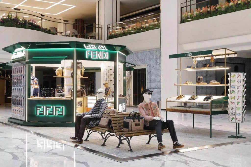 Fendi launched a pop-up store in Beijing SKP Mall. Courtesy photo of Fendi