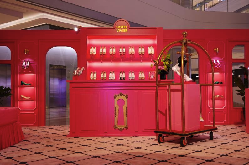 "Roger Vivier set up a pop-up store called the ""Hotel Vivier"" at IFS. Courtesy image"